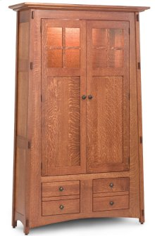 McCoy Bookcase, Wood Doors