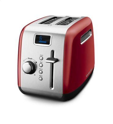 2-Slice Toaster with Manual High-Lift Lever and Digital Display - Empire Red