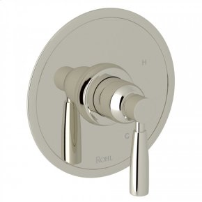 Polished Nickel Perrin & Rowe Holborn Pressure Balance Trim Without Diverter with Holborn Metal Lever