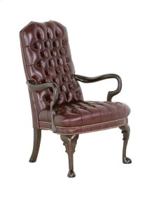 TUFTED GOOSE-NECK CHAIR