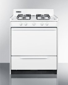 """30"""" Wide Gas Range In White With Sealed Burners and Electronic Ignition; Replaces Wnm2107f"""
