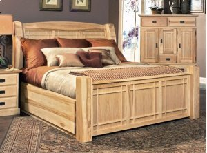 Queen Arch Panel Bed W/storage