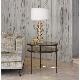 Couture Round Lamp Table