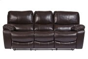 Ramsey Brown Leather-Look Reclining Set, M6013 Product Image