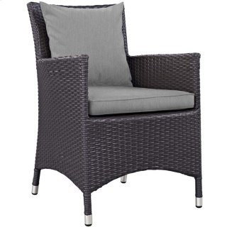 Convene Dining Outdoor Patio Armchair in Espresso Gray