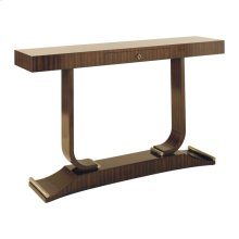 EBONY ZEBRANO VENEER CONSOLE TABLE
