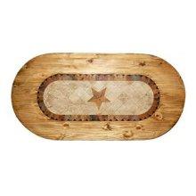 Oval Marble Tble W/star