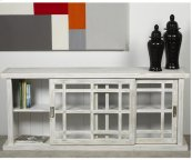 Adesso Large Storage Cabinet - White ( distressed)