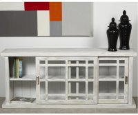 Adesso Large Storage Cabinet - White ( distressed) Product Image