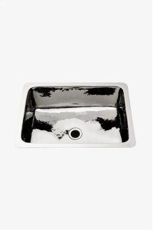 """Normandy Drop In or Undermount Rectangular Hammered Copper Bar Sink 21 5/8"""" x 15 11/16"""" x 7 5/16"""" STYLE: NOSK22"""