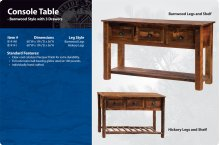 Barnwood Console Table with 3 Drawers