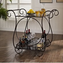 Serving Cart, Antique Bronze with 4 wheels