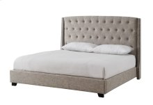 Tufted Upholstered Wingback Bed