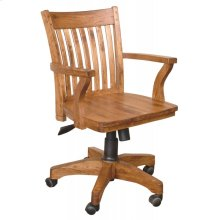 Sedona Office Chair W/arm/wooden Seat