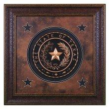 Texas Seal Large Shadow Box