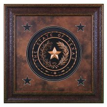 Texas Seal Large Shadow Box