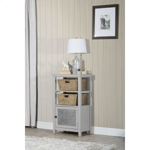 Hillsdale FurnitureTuscan Retreat(r) Basket Stand With Metal Front and Two Baskets - Taupe
