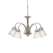 Wynberg Collection Wynberg 5 Light Chandelier - Brushed Nickel