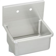 "Elkay Stainless Steel 25"" x 19-1/2"" x 12, Wall Hung Service Sink"