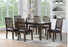 7 PC Set-rectangular Dining Table & 6 Side Chairs (7pcs/ctn) Birch Veneer-cherry Finish Product Image