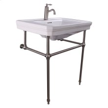 """Drew 30"""" Console with Brass Stand - Single-Hole / Brushed Nickel"""
