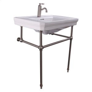 """Drew 30"""" Console with Brass Stand - Single-Hole / Brushed Nickel Product Image"""
