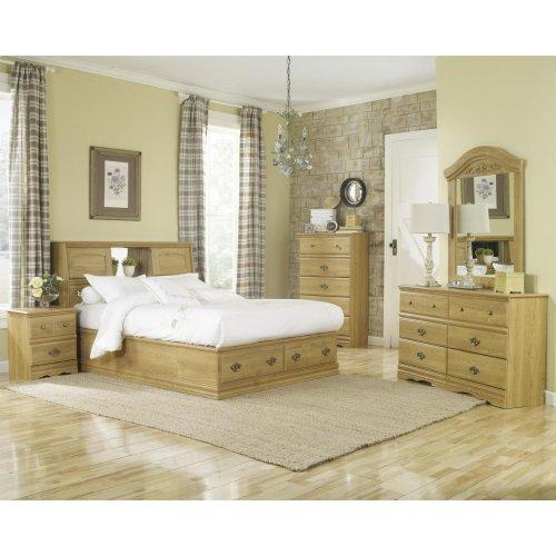 Bookcase Storage Bed - 2 Drawer - Queen