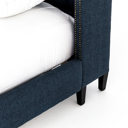 Queen Size Indigo Cover Jefferson Bed - 60""