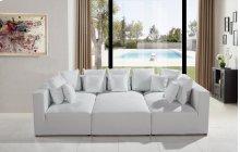 Divani Casa 206 Modern White Bonded Leather Sectional Sofa