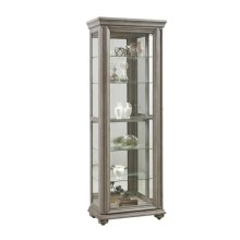 Grey Sliding Door Display Cabinet