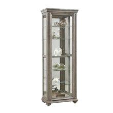 Grey Sliding Door Display Cabinet