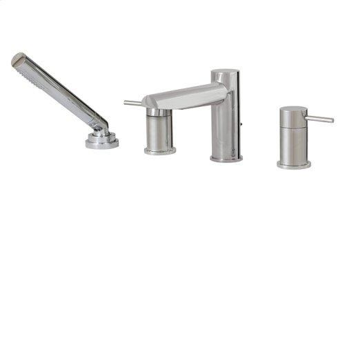 4-piece deckmount tub filler with handshower