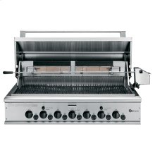 """GE Monogram® 48"""" Outdoor Cooking Center with 4 Grill Burners, 2 Rotisseries, Smoker and Rack (Liquid Propane)"""