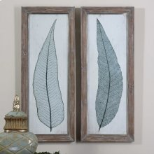 Tall Leaves Framed Prints, S/2