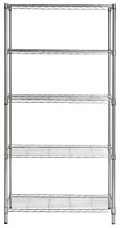 Alpha 5 Tier Chrome Wire Rack (35 In W X 18 In D X 71 In H) - Chrome Plating Product Image