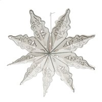 Snowflake with Silver Trim Hanging Pendant. Product Image