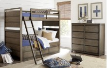 Big Sky by Wendy Bellissimo Twin over Twin Bunk Bed Complete 3/3, Twin