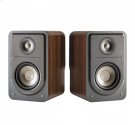Real Value on Pair of Bookshelf Speakers in Classic Brown Walnut Product Image