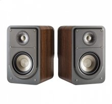Signature Series American HiFi Home Theater Compact Bookshelf Speaker in Classic Brown Walnut