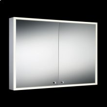 DOUBLE DOOR EDGE-LIT CABINET - Mirror