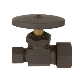 "Oil Rubbed Bronze Straight Valve, 1/2"" Compression"