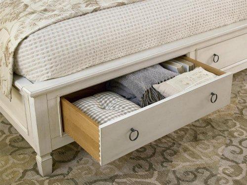 Storage Bed (King) - Cotton