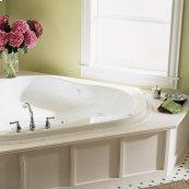 Evolution 54x54 inch EverClean Corner Whirlpool - White