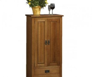 Mission Wine Cabinet with Glass Doors