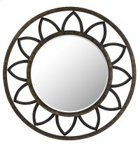 TUSCANY ROUND METAL MIRROR WITH BEVELED GLASS Product Image
