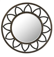 TUSCANY ROUND METAL MIRROR WITH BEVELED GLASS