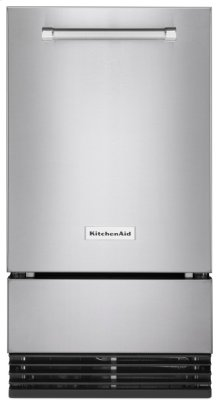 KitchenAid® 18'' Automatic Ice Maker with PrintShield Finish - Stainless Steel with PrintShield™ Finish