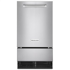 KITCHENAIDKitchenAid(R) 18'' Automatic Ice Maker with PrintShield(TM) Finish - Stainless Steel with PrintShield(TM) Finish