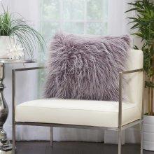 """Faux Fur Bj101 Lavender 20"""" X 20"""" Throw Pillows"""