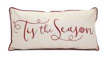 Christmas Is The Season Embroidered Pillow